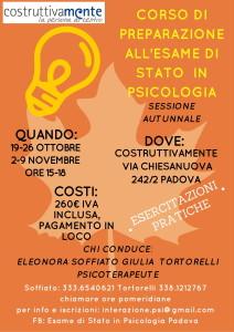 Esame di Stato in psicologia Padova Nov 2016