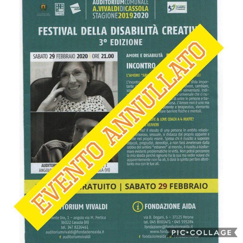 Festival della disabilità creativa a Cassola: 27-29 febbraio