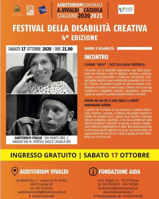 RITORNA IL FESTIVAL DELLA DISABILITA' CREATIVA, QUARTA EDIZIONE!